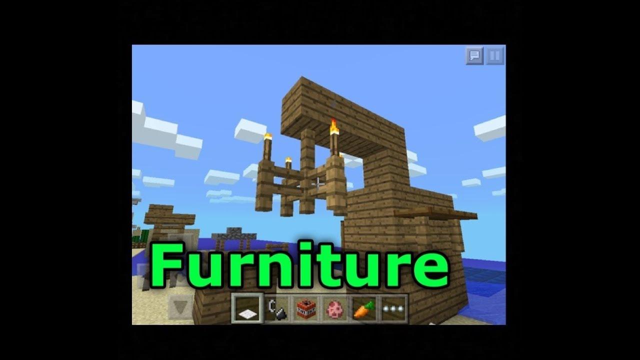 Minecraft Pe Furniture minecraft pe: how to make epic furniture! - youtube