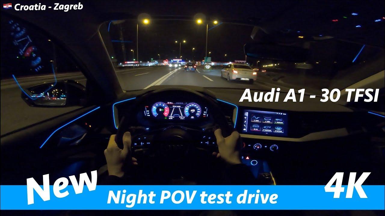 Audi A1 30 Tfsi Night Pov Drive In 4k Acceleration 0 100 Km H Youtube