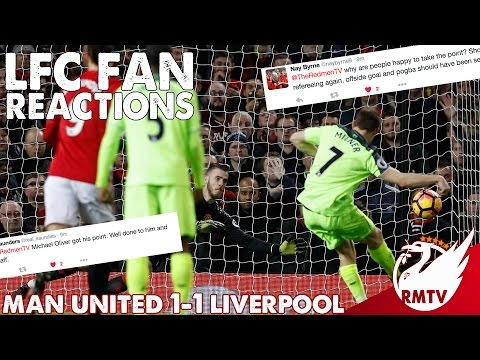 Man United v Liverpool 1-1 | #LFC Fan Reactions