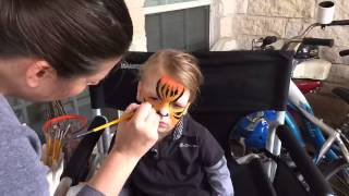 Tiger Face Paint by EPIC Body Paint ATX Timelapse