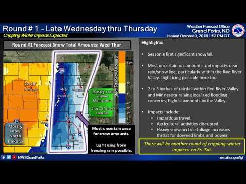 Early Season Winter Storm October 9-12, 2019 - Weather Briefing