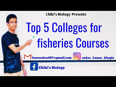 Top 5 Colleges For Fisheries Courses In India || Must Watch Video.................By Chiki's Biology