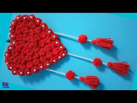 diy-heart-wall-hanging||craft-ideas-diy||handicraft-wall-hanging-ideas||wall-hanger||