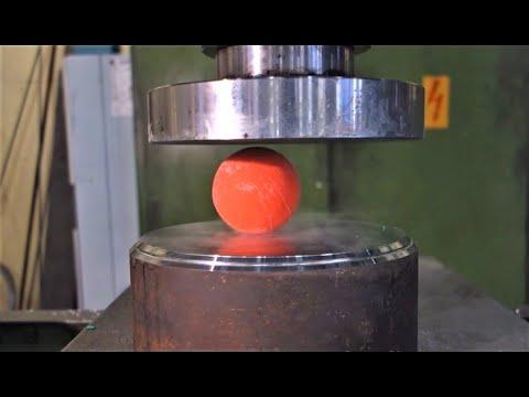 Crushing deep freezed stuff with hydraulic press