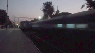 Twilight show, 12780 Goa SF express musical performance with WAP-7 leading
