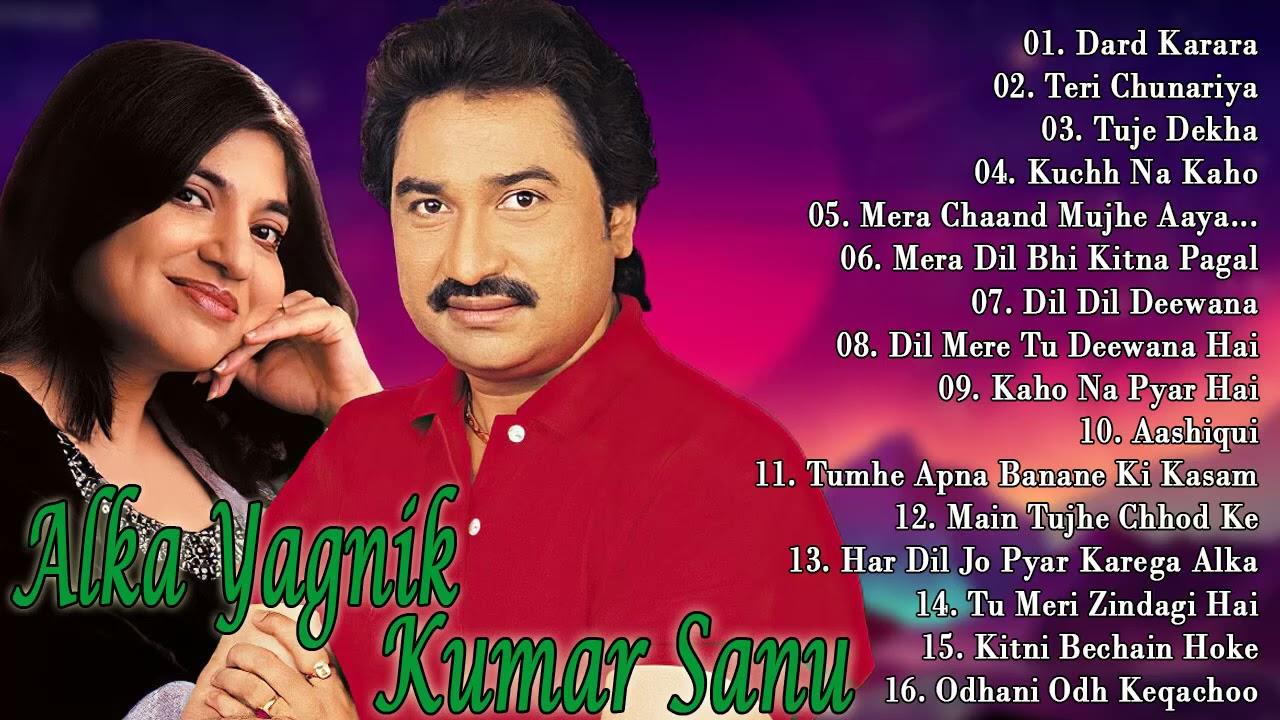 Kumar Sanu & Alka Yagnik - Golden Hits - 90's BOLLYWOOD ROMANTIC SONGS - Best Hindi Songs