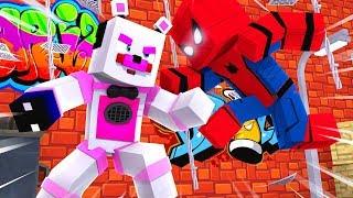 Funtime Freddy VS Spiderman ?! | Minecraft FNAF Roleplay