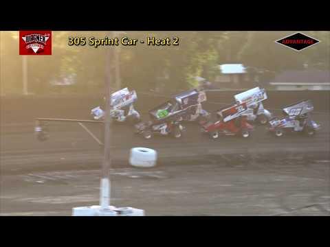 305 Sprint Car Heats/Feature - Wagner Speedway - 7/7/18