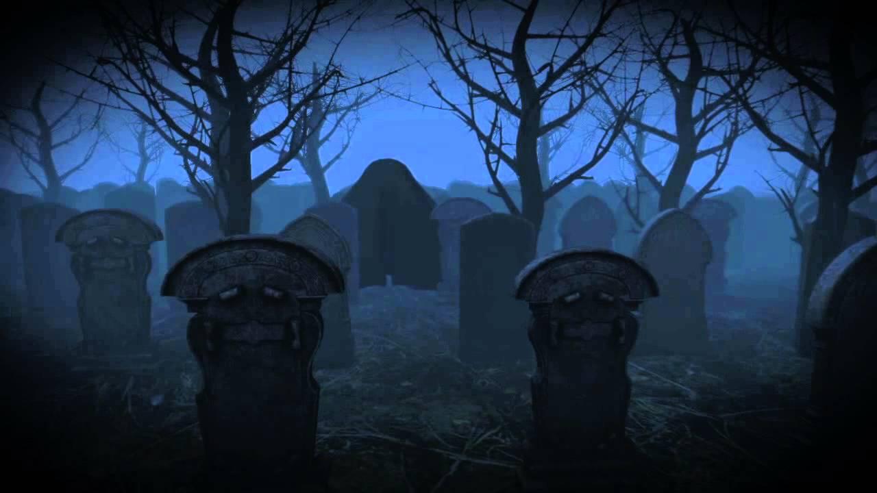 halloween graveyard animation - youtube