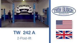 TW 242 A : 2 post lift from TWIN BUSCH ®