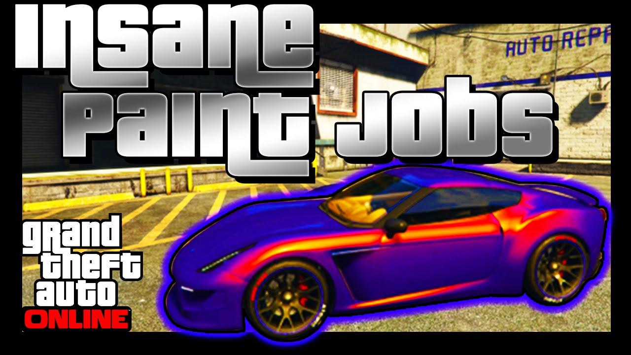 GTA 5 Online: SECRET Paint Jobs - FADE, MARBLE, GLOWING ...