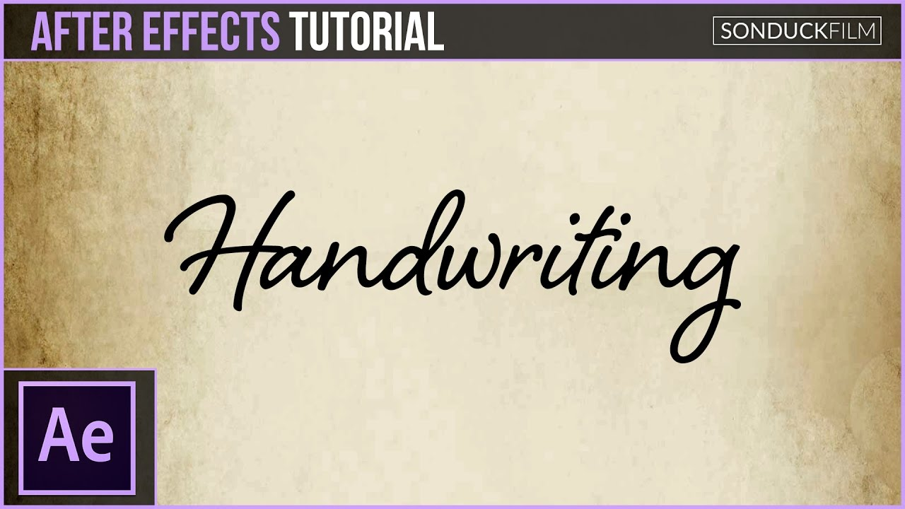 Calligraphy Font Generator Html After Effects Tutorial Handwriting Effect Animation