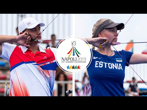Chinese Taipei v Estonia – compound mixed team gold | Napoli 2019 Universiade