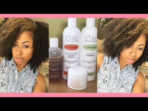 How I use E'TAE Products on My Natural Hair | Wash & Go | High Porosity Friendly