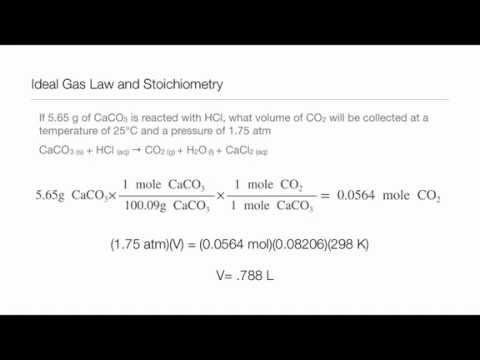 ideal gas law and stoichiometry youtube - Gas Stoichiometry Worksheet
