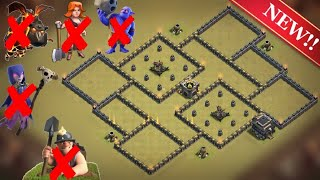 New Best Th9 War Base | Defense against Th11 GoBoWiPe, LavaLoon; Th10 Miners; Th9 GoVaWitch, GoValk