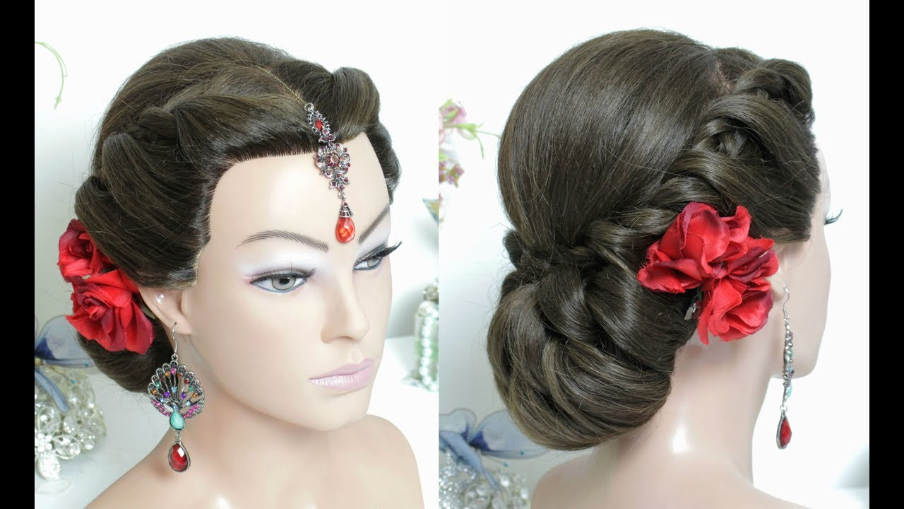Hairstyles Juda: Bridal Juda Hairstyle For Long Hair With Twists