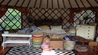 One month on our new land in our yurt!