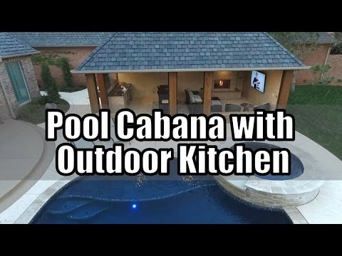 Pool Cabana Design with Outdoor Kitchen