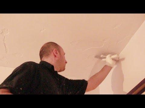 Renover Un Plafond Ecaillee Reprise D Enduit Partiel Youtube