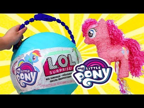 My Little Pony L.O.L. Big Surprise *Customized* DIY with MLP Toys LOL Dolls & MLP Blind Bags