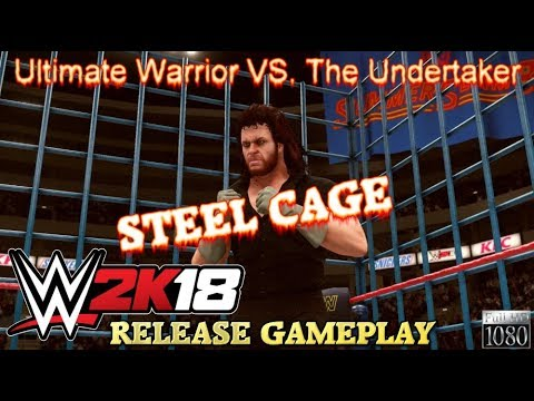 WWE 2K18 Gameplay: STEEL CAGE: Ultimate Warrior VS. The ...