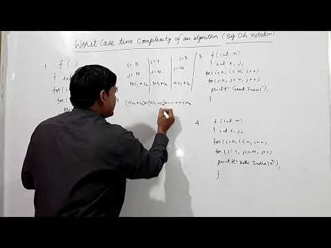 WORST CASE TIME COMPLEXITY OF AN ALGORITHM 1