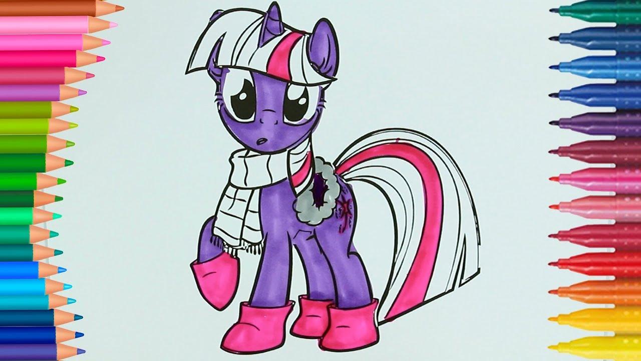 My Little Pony Twilight Sparkle Boyama Sayfasi Ile Renkleri