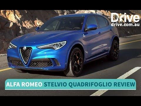 2018 Alfa Romeo Stelvio Quadrifoglio Review   Drive.com.au - Dauer: 4 Minuten, 6 Sekunden