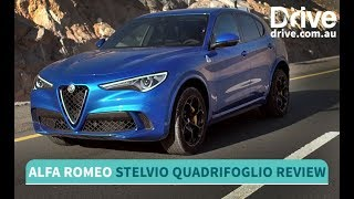 2018 Alfa Romeo Stelvio Quadrifoglio Review | Drive.com.au