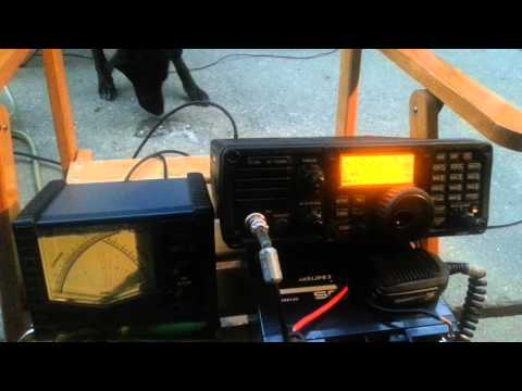 icom ic-7200 + ah-4 atu + vertical antenna short portable test