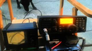 icom ic 7200 ah 4 atu vertical antenna short portable test