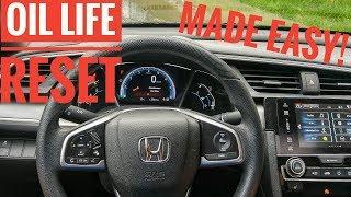 Honda Civic Oil Life Reset 2016 2017 2018 2019 2020 Made Easy!
