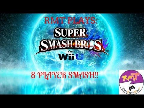 RMT PLAYS: SUPER SMASH BROS. WII U -8 PLAYER MAYHEM #1