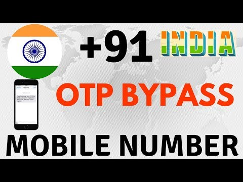 Indian Mobile number for OTP bypass | Indian disposal mobile number