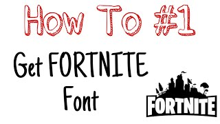 How to get the FORTNITE font (Burbank) Android