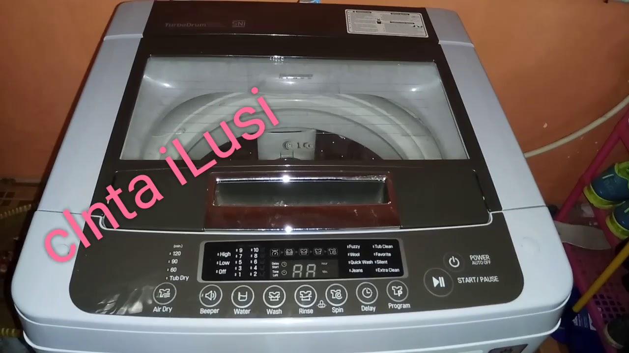 Cara Membersihkan Mesin Cuci Lg Turbo Drum Ts81vm Bukaan 1 Tabung Top Loading Wfl100tc 10kg Putih Lgturbo Mesincucibukaanatas