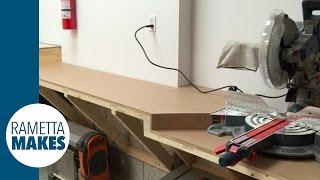 How to Build a Mitre Saw Station in Garage Workshop // DIY