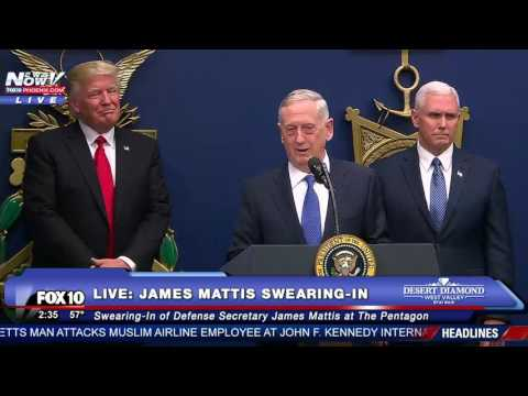 FNN: President Trump At Pentagon Ceremonial Swearing-In of Secretary of Defense James Mattis