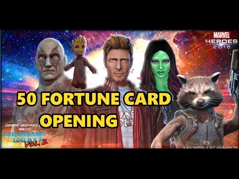 Marvel Heroes Guardians of the Galaxy Vol 2 Fortune Card Opening