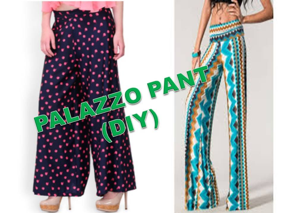 a3749229e09 How To Make Palazzo pant ( DIY ) Part 1 - YouTube