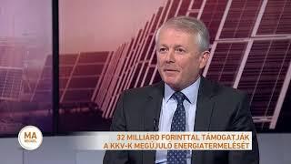 32 milliárd forinttal támogatják a KKV-k megújuló energiatermelését