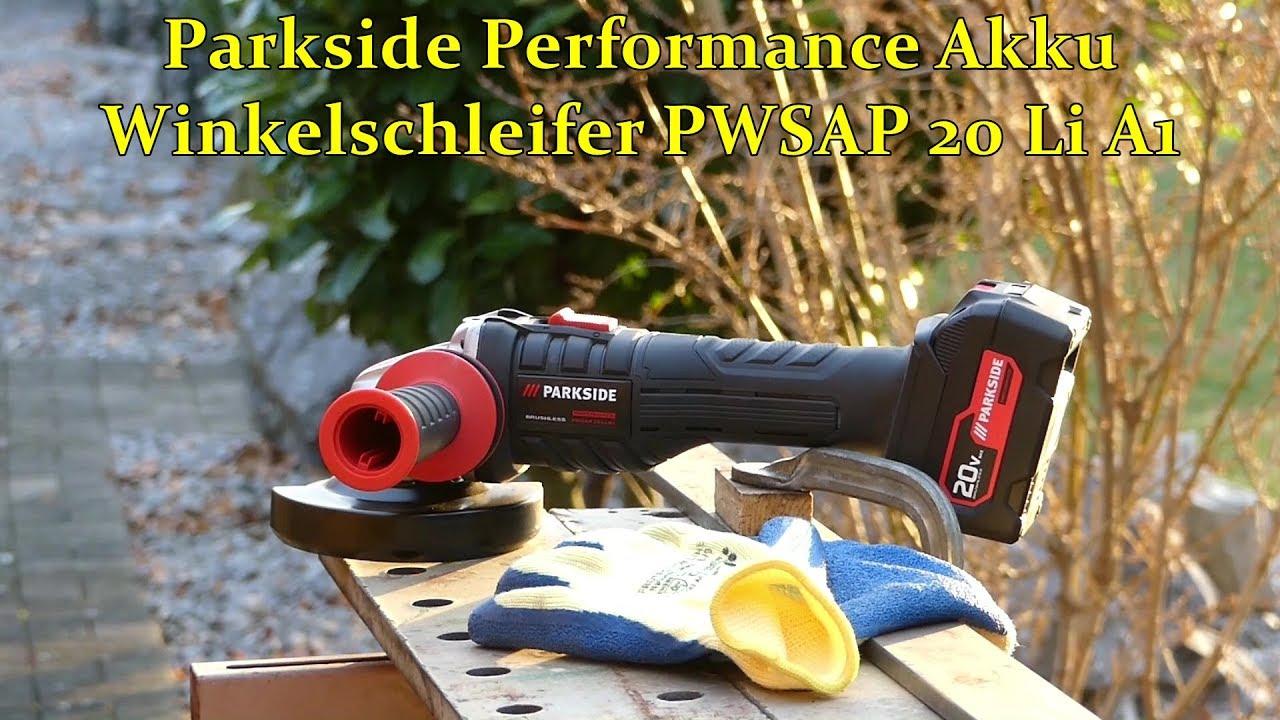 parkside performance akku winkelschleifer pwsap 20 li a1. Black Bedroom Furniture Sets. Home Design Ideas