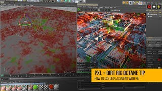 Octane Tutorial: Using Displacement With PXL + DIRT Rig in C4D