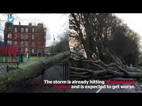 Storm Gertrude: heavy winds and rainy weather have arrived to the UK