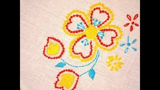 18.Hand embroidery -A Design With  Bead Stitch ( moti tanka )