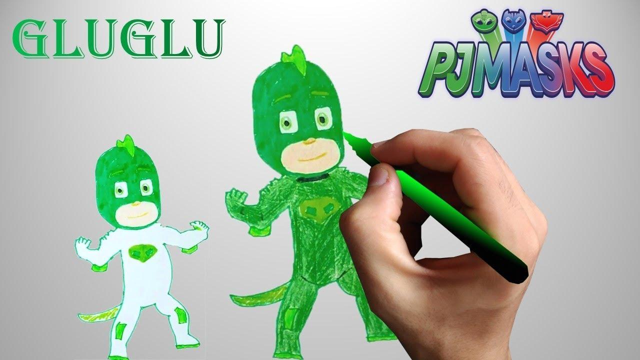 how to draw gekko pj masks