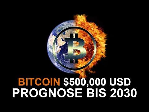 DIE $500,000 USD BITCOIN PROGNOSE BIS 2030