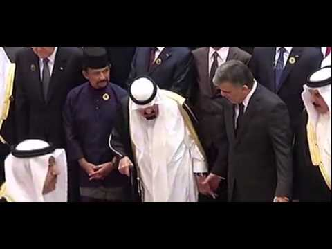 Archive footage of Saudi King Abdullah bin Abdulaziz