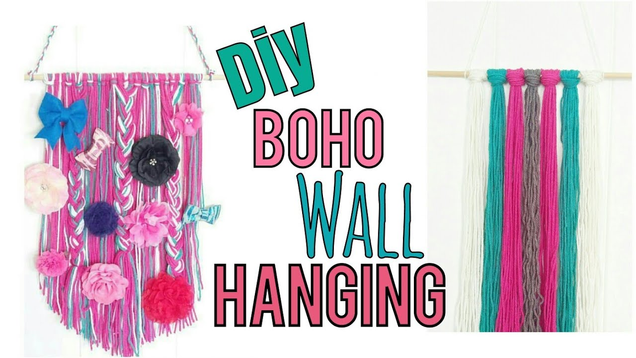 Diy Boho Wall Hanging Bow Holder Youtube